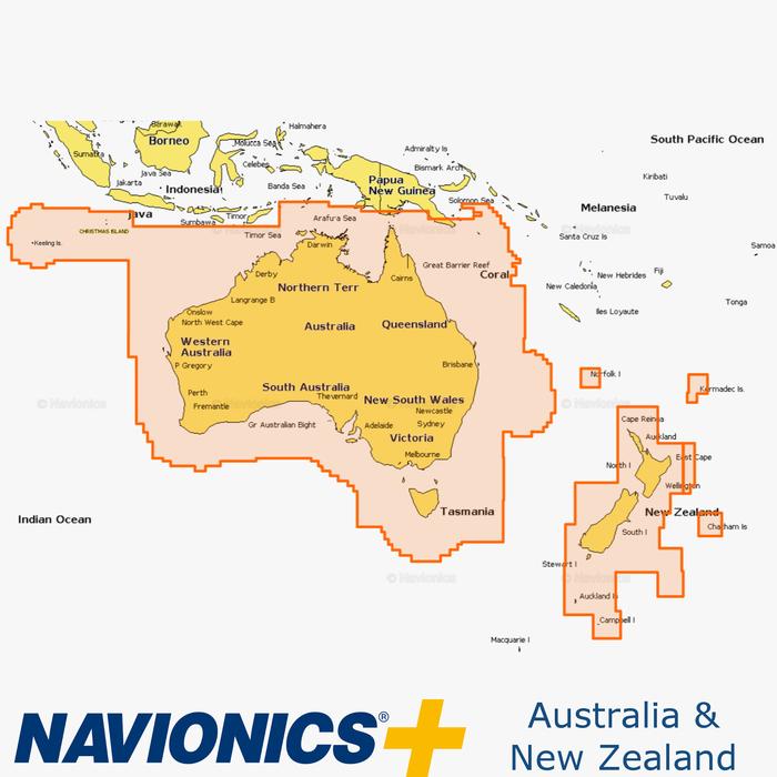 Map Of Australia New Zealand And Tasmania.Navionics Australia New Zealand Inavx